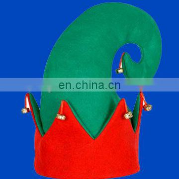 Promotional green felt elf hat for christmas holiday