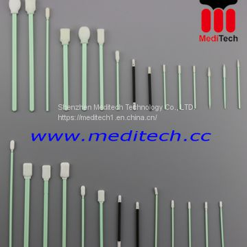 TX742B Small Open Cell Foam Swab With Rigid Round Tip