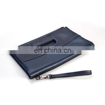 Top Popular A4 Leather Portfolio Document Display Holder with Zipper Closure