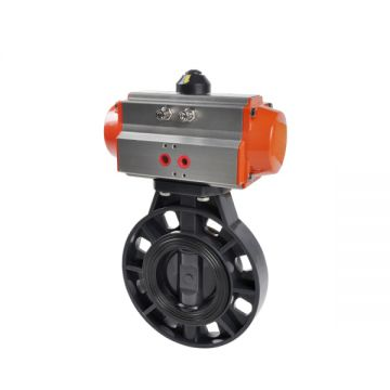 Butterfly Valve Air Flow Control Gas / Oil Rpp / Pvdf