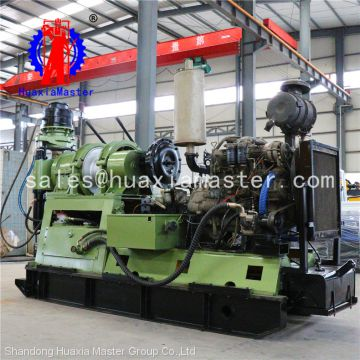 Supply Hydraulic rock drilling machine XY-8 water well drill rig with air compressor&trailer 2000m depth multifunction
