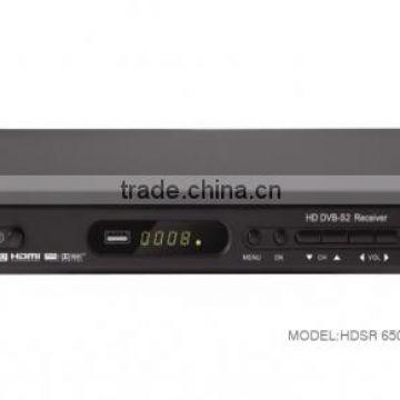 HD Digital FTA DVB-S2 Satellite receiver / set top box HDSR 650GS(GX6605S +  AV2018))