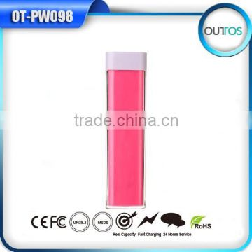 Promotional Gifts 2015 Portable Lipstick Handy Power Bank Charger 2200 MAH With CE