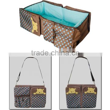 2016 New multifunction mother bag portable folding travel cot Baby Crib                                                                         Quality Choice