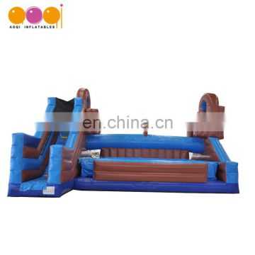 Popular inflatable gladiator jousting with slide
