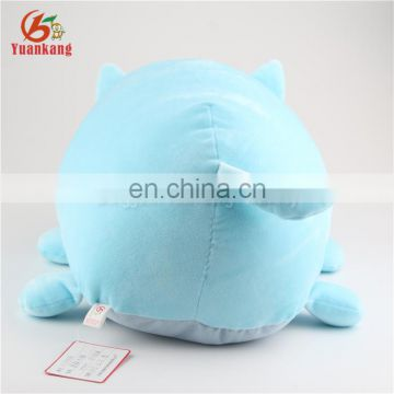 44cm cylindrical embroidery toy plush blue sleeping cat