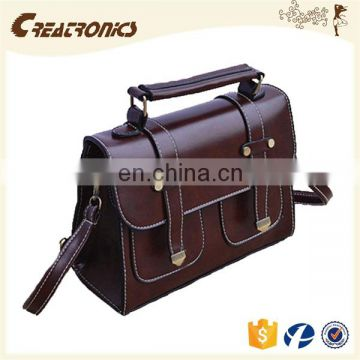 CR import export business ideas customized design vintage satchel crossbody messenger bag leather