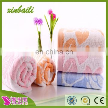 Wholesale Super Soft Jacquard Bamboo Fiber Bath Towel