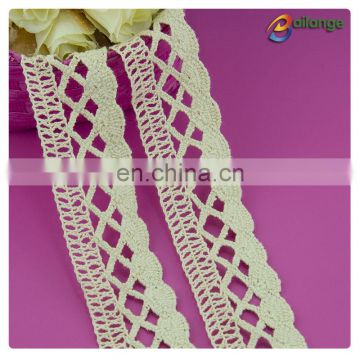 Bailange colorful cloth trim wholesale 100% cotton white lace for indian suits