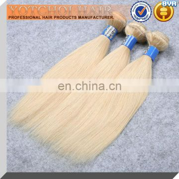 Factory Price Indian Virgin Remy Hair Color 613 Color Blonde Hair Weave Human