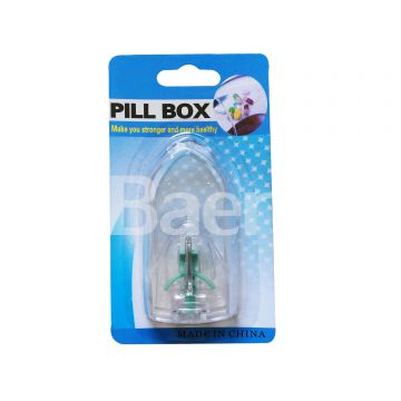 White Clear Drug Box with Cutter Tablet divided Pill Puncher