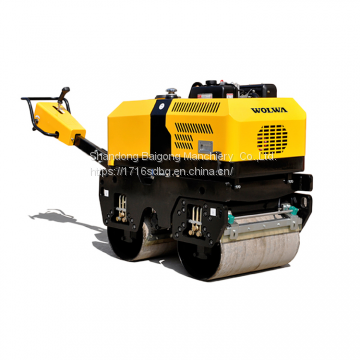 Hydrostatic drive hand-push  double drum road roller with diesel