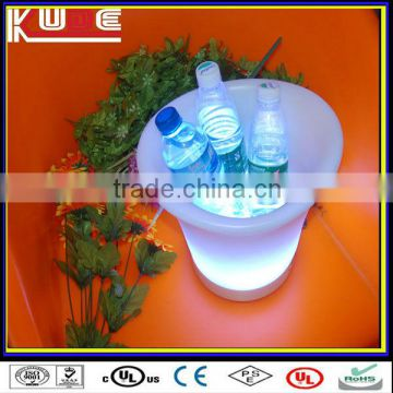 LED Luminous color changing plastic champagne new designe ice bucket/plastic cheap ice bucket