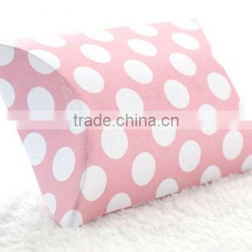 Pink Polka Dot Pillow Boxes Spots Dots Wedding Pillow Gift Boxes for Favours Xmas Party Box Baby Shower