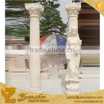 Roman Decorative Marble Building Design Pillar for sale