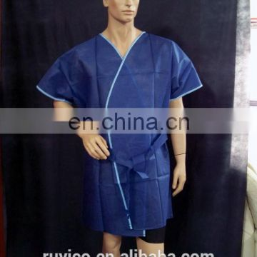 disposable nonwoven PP salon kimono sauna gown bathrobe