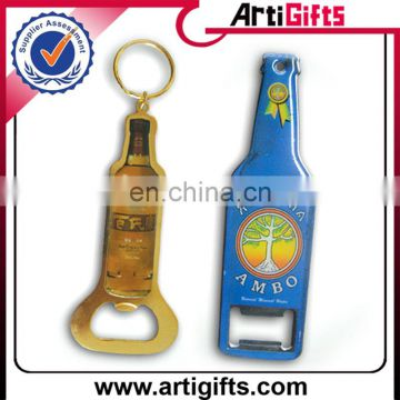 Good quality cheap promotional bottle shape opener keychain