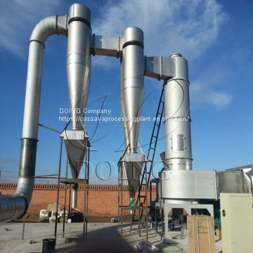 Starch dryer high heat and efficiency