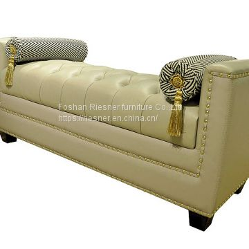 contemporary post modern solid wood king bed Customizable