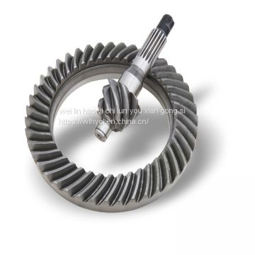 spiral bevel gear pelvic angle tooth production and customization