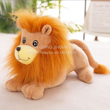Simulation lion plush toy doll pillow for children