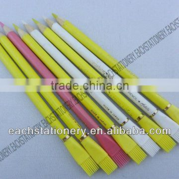 7 Inches Standard Wooden Drawing Glass Marking ,Leather,Metal,Vinyl,Celluloid,Cellophane Color Pencil With Brush