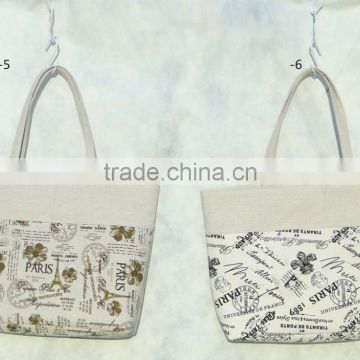 fashion canvas tote bag with printed pattern