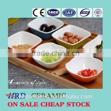 High quality soup bowls Stocked bakeware white ceramic popcorn bowl