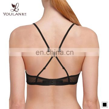 Wholesale Latest New Design Ladies Big Boobs Black Sexy Transparent Bra