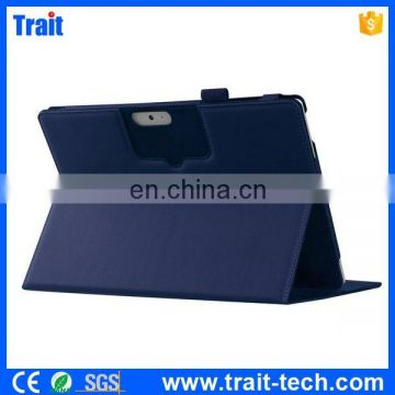 Manufacturer in China Magnetic Flip Stand PU Leather Case for Microsoft Surface 3 with Memo Slot & Pen Holder