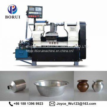 Copper bottle making automatic metal Spinning Machine India for making Water Bottle