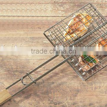 BBQ three fish wire grill with chrome plate