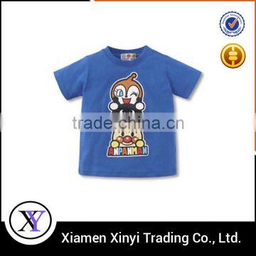 Wholesale cheap summer blue boy fancy t-shirt of Kids shirts