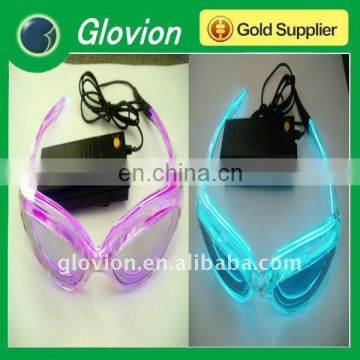 Hot christmas gifts el flashing light glasses
