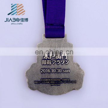 made in china high quality enamel marathon medal holder custom sports metal medal with ribbon
