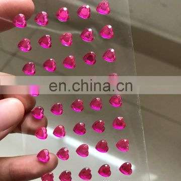 NEW SINGLE HEART rhinestone STICKER