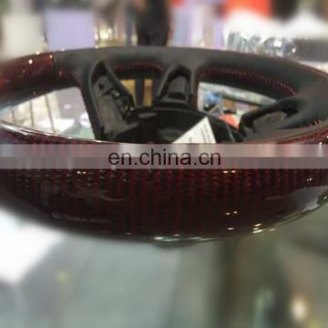 Factory twill carbon fiber +red kevlar fabric for Steering wheel