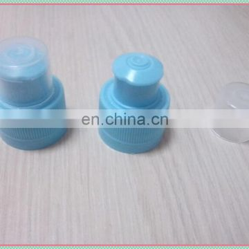 Hot sale 28mm plastic push pull sports water bottle caps with dust cover