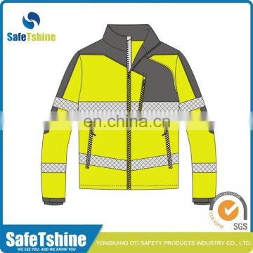 Most competitive reflective fluorescent polyester waterproof breathable cycling jacket