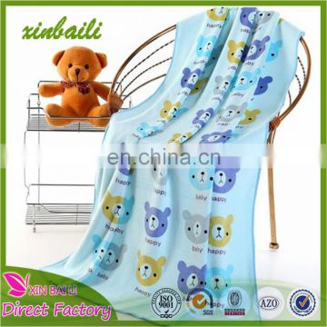 Custom 80% Polyester 20% Polyamide Lovely Printed Baby Bath Towel