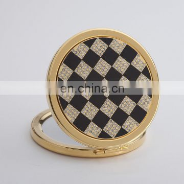 Hot sale wedding gifts professional round shape tin mirror / make up mirror