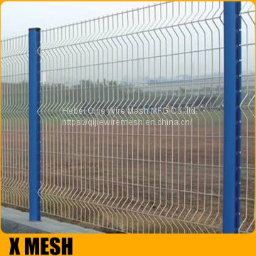 3D Curved Wire Mesh Fence Panel For Courtyard