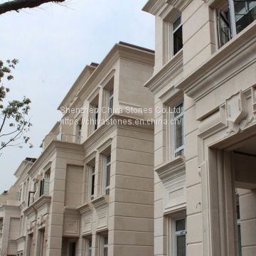 Moca Cream Marble Cladding Exterior Stone Wall Facade Tiles Facades Panels Wall Tiles