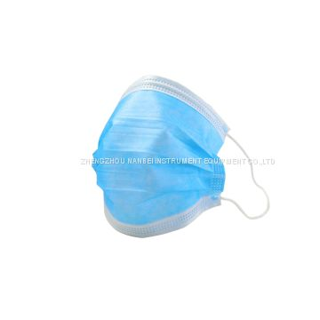 Earloop Protecitive Medical Surgical Nonwoven Facial Masks Disposable 3 Ply Anti-Covid19 Face Mask