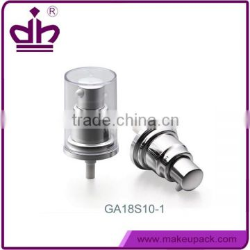 18mm Silver bottle foundation treatment pump from shantou