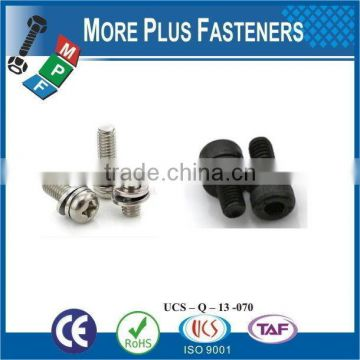 Made in Taiwan Stainless M4-0.7 x 8mm Phillips Pan Head Zinc Finish Steel Internal Tooth Washer SEMS Machine Screw