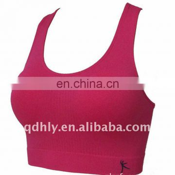 Paypal accepted red sexy wholesale seamless sports bra