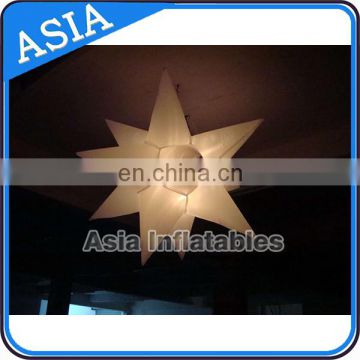Colorful lighting star / inflatable hanging light balloon for night club