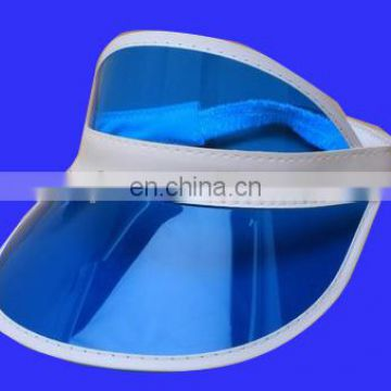 Factory direct sell plastic pvc sun visor hat for 2018 summer