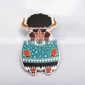 Custom creative shape epoxy metal pin badge for sale